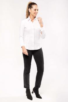 Dámská strečová košile s dlouhým rukávem