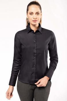 Dámská košile s dlouhým rukávem v nežehlivé úpravě