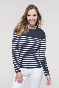 Dámský pruhovaný svetr - Výprodej - zvětšit obrázek