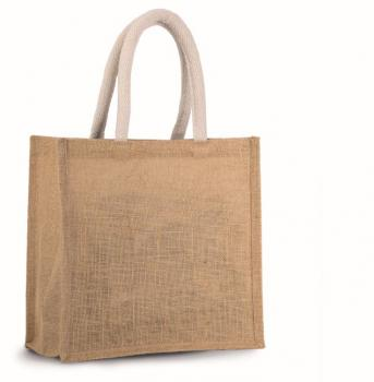 Jutová nákupní taška - střední