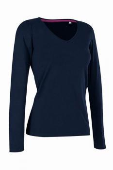 Dámské tričko dl. rukáv CLAIRE V-neck - Výprodej