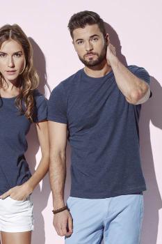 "Pánské tričko LUKE melír do ""U"""