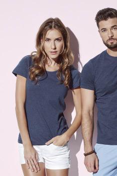 "Dámské tričko LISA melír do ""U"""