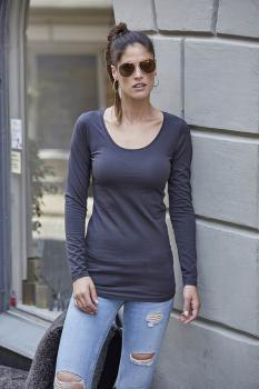 Dámské strečové tričko dl.rukáv Tee Extra Lenght