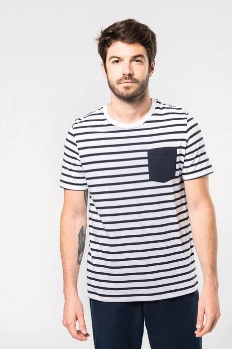 Pánské pruhované tričko s kapsičkou - zvětšit obrázek
