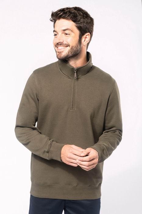 Mikina unisex Zipped neck sweatshirt - zvětšit obrázek