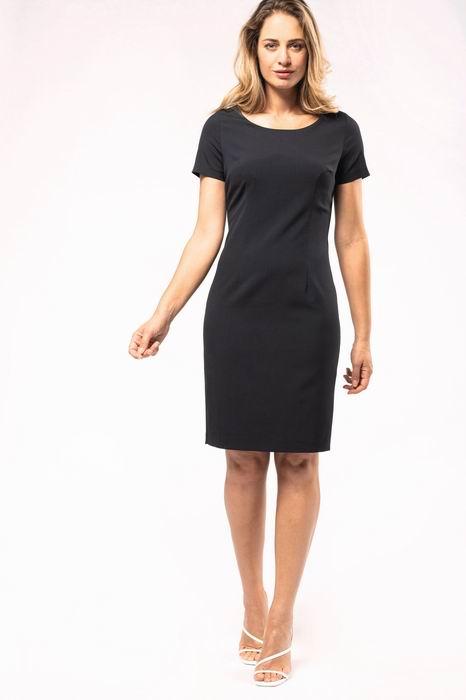 Pouzdrové šaty s krátkým rukávem - zvětšit obrázek