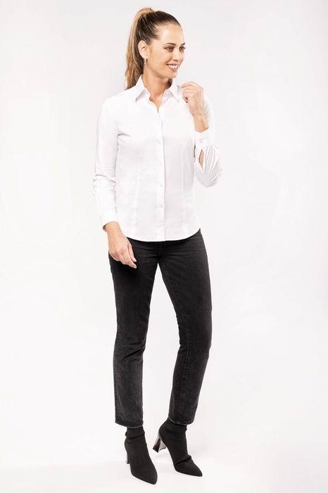 Dámská strečová košile s dlouhým rukávem - zvětšit obrázek