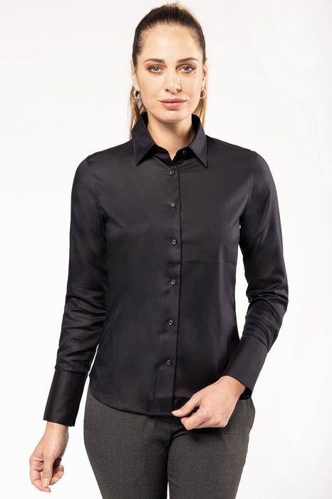 Dámská košile s dlouhým rukávem v nežehlivé úpravě - zvětšit obrázek 0533e4c155