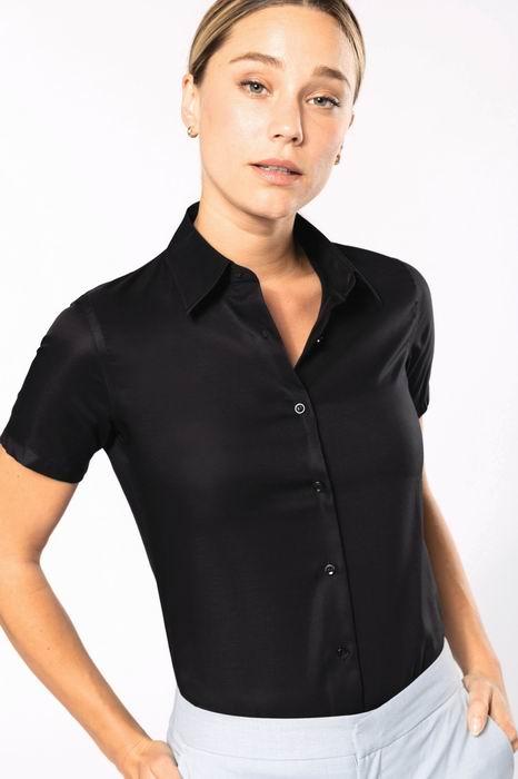Dámská košile s krátkým rukávem v nežehlivé úpravě - zvětšit obrázek