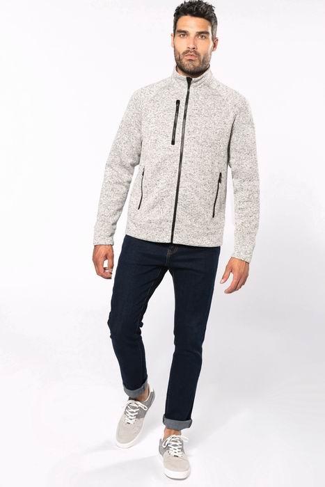 Pánská bundová mikina Full zip heather jacket - zvětšit obrázek