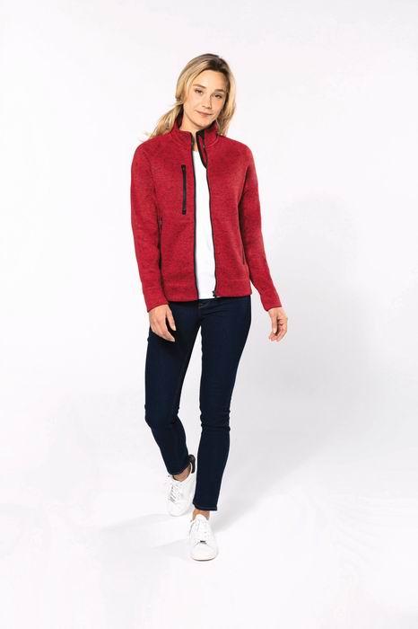 Dámská bundová mikina Full zip heather jacket - zvětšit obrázek