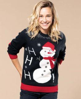 Vánoční svetr unisex se sněhulákem - zvětšit obrázek