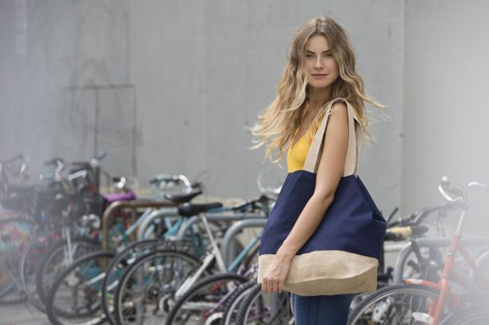 Nákupní taška z bavlny a juty - zvětšit obrázek