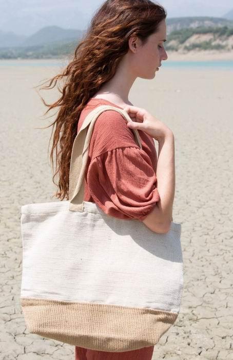 Rustikální nákupní taška - zvětšit obrázek