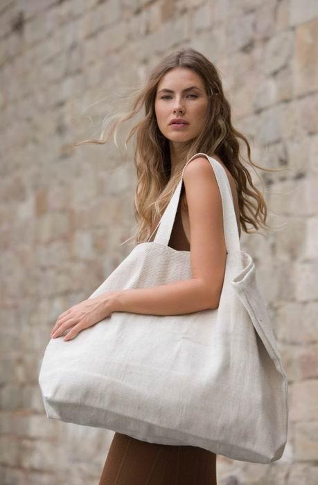 Velká rustikální nákupní taška - zvětšit obrázek