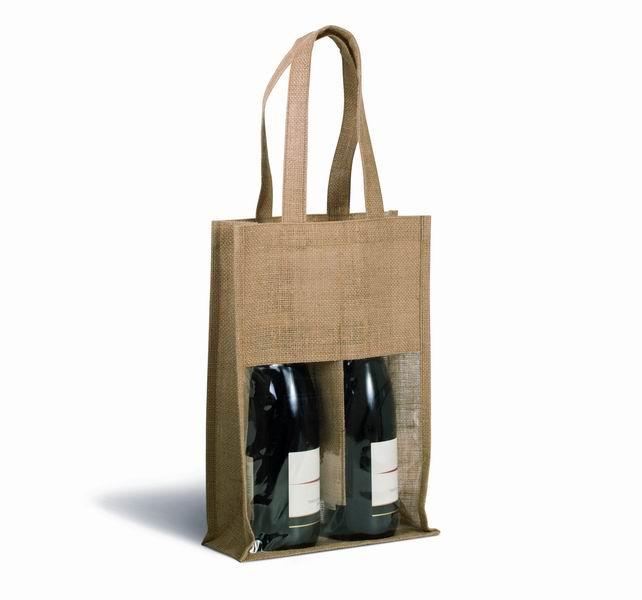 Jutová taška na vína - zvětšit obrázek