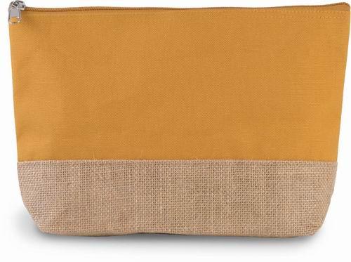 Taštička na zip Juta/Bavlna - zvětšit obrázek