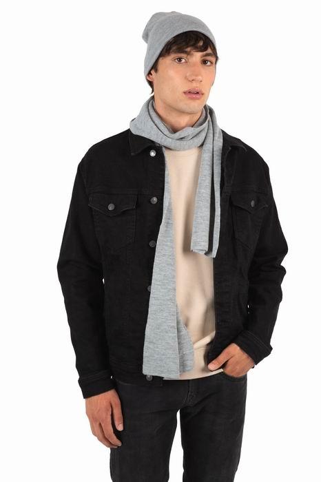 Teplý úpletový šátek na krk - zvětšit obrázek