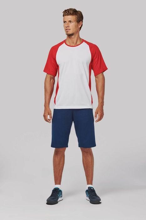 Pánské dvoubarevné sportovní tričko - zvětšit obrázek