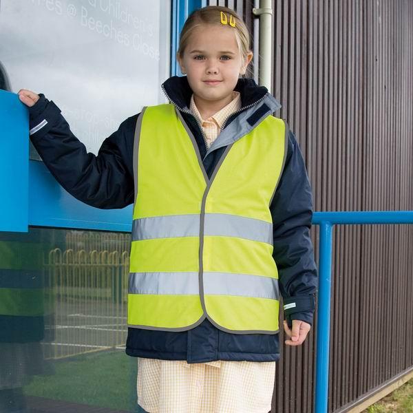 Dětská reflexní bezpečnostní vesta CORE - zvětšit obrázek