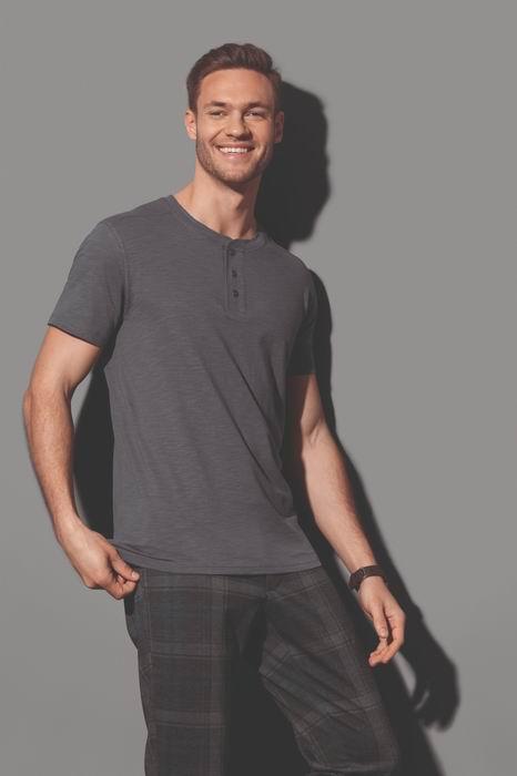 Pánské tričko s knoflíčky Shawn Henley - zvětšit obrázek