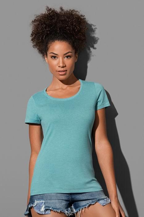 """Dámské tričko LISA melír do """"U"""" - Výprodej - zvětšit obrázek"""